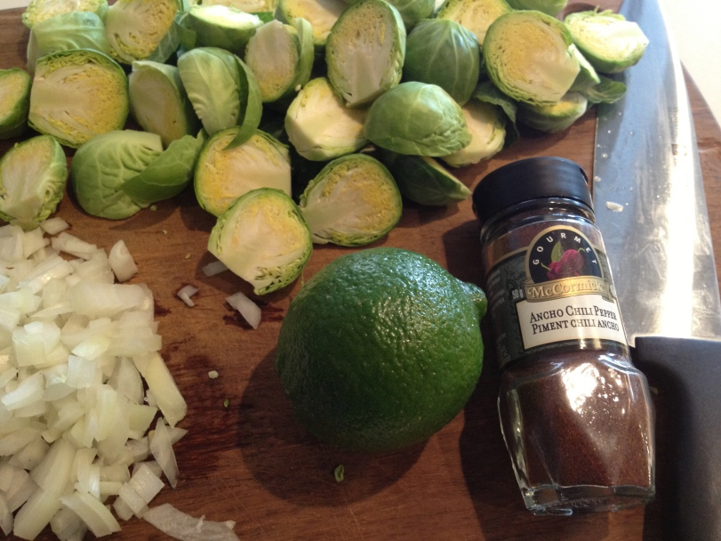 Ingredients for Spicy Lime Brussel Sprouts
