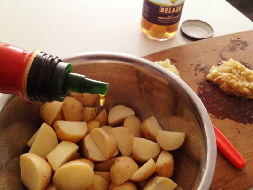 Pour some EVOO over your spuds