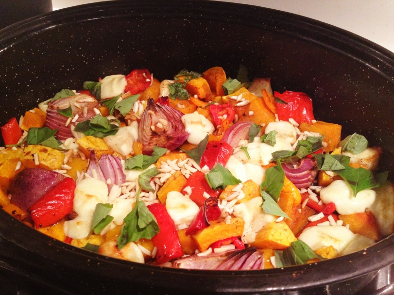 Roasted Autumn Vegetables with Halloumi Cheese