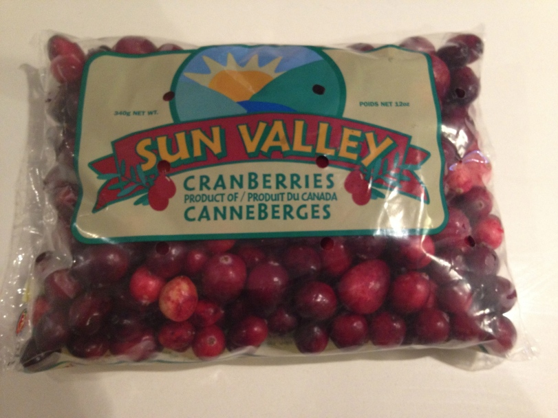Fresh Cranberries- At the holidays you tend to see these in the grocery store for anywhere between 1-$1.50 a bag