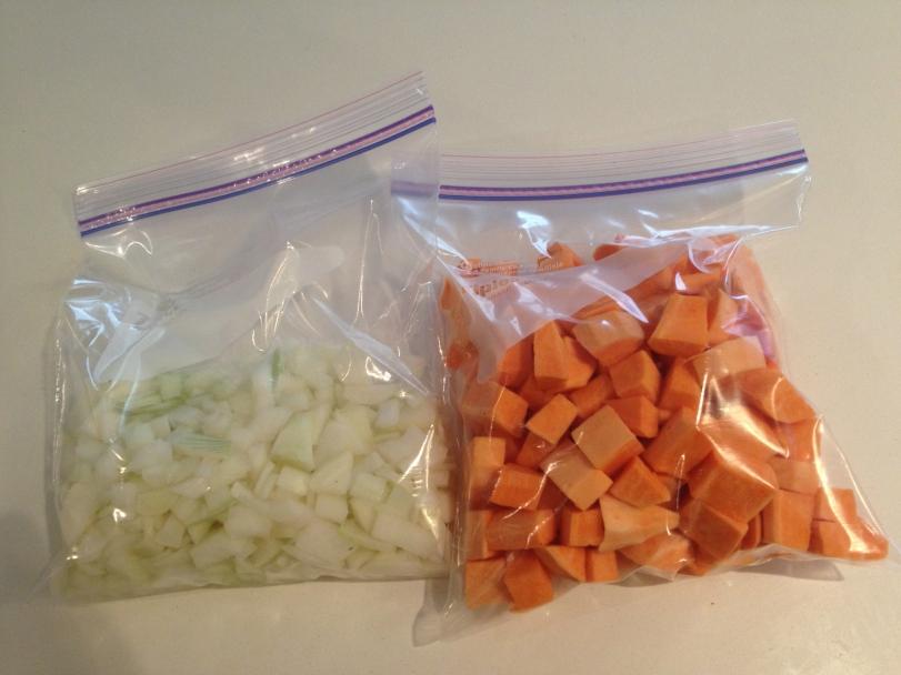 Chopped Veggies in Zip Loc