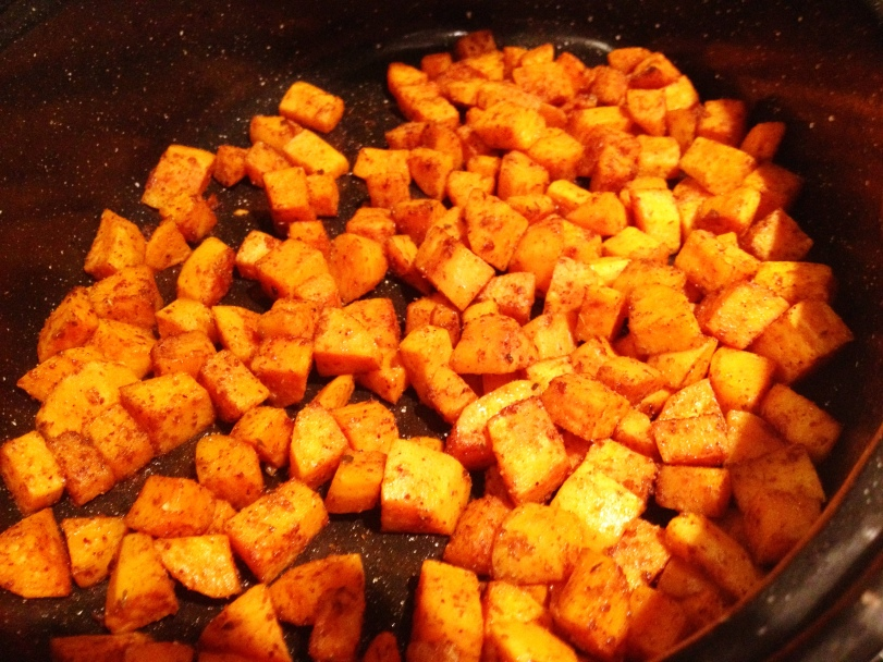 Sweet potatoes roasted and delicious