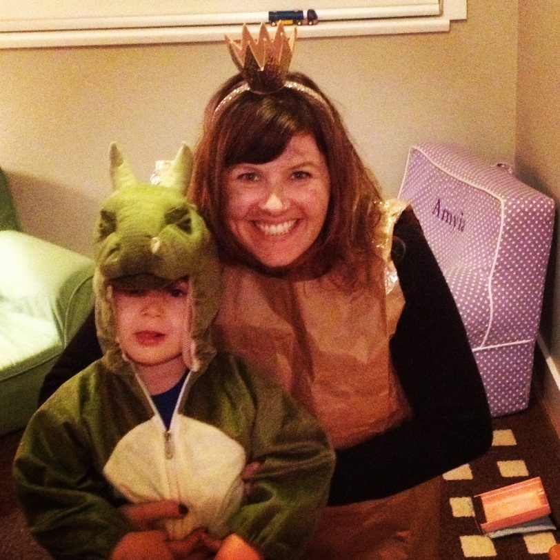 Paperbag Princess and the fire breathing Dragon.