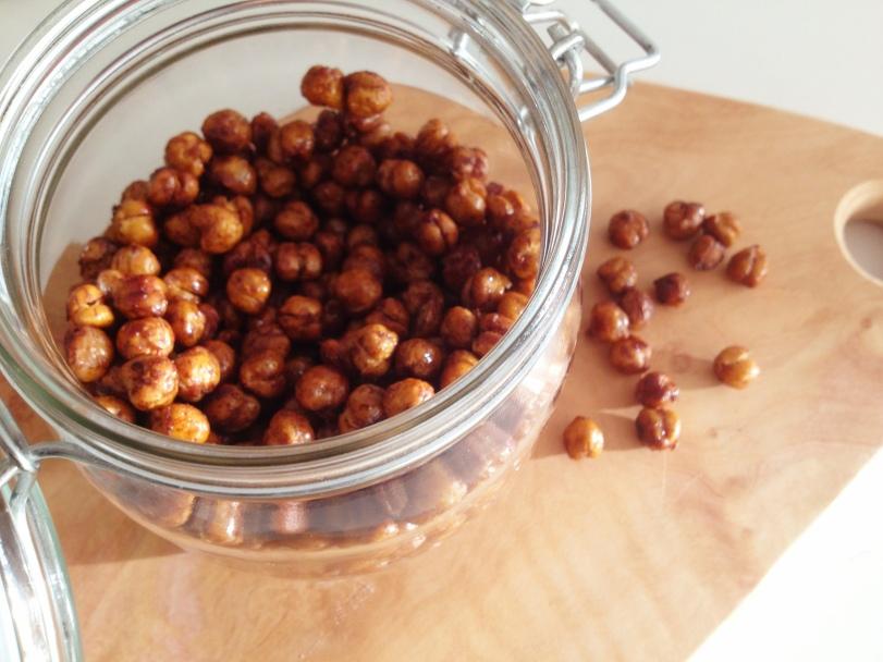 Roasted Cinnamon and Vanilla Chick Peas
