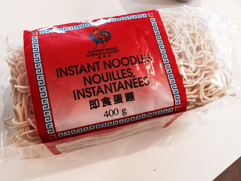 good ole package of instant noodles
