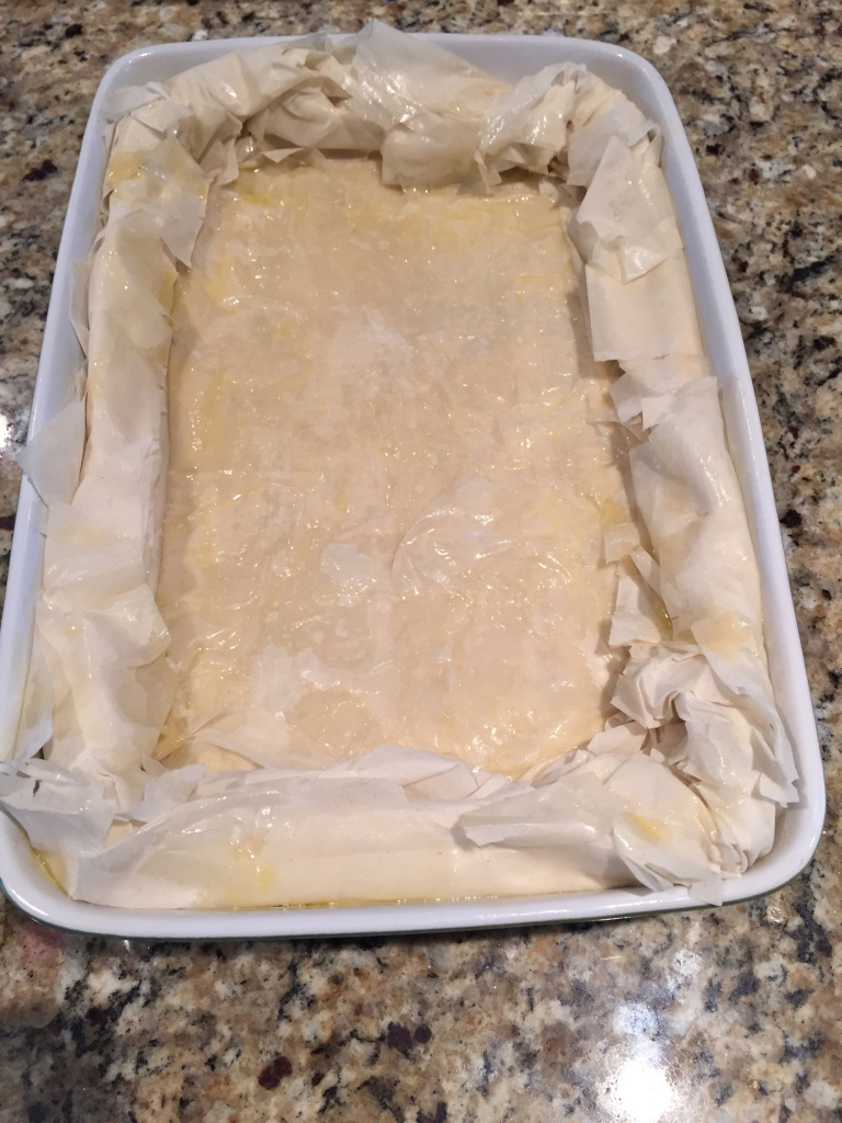 Ready to be baked in the oven.  Can't wait to see the finished product.