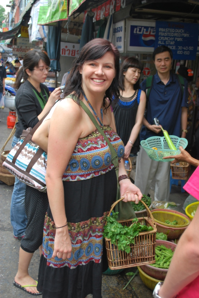 Steph at Market in Bangkok, Thailand